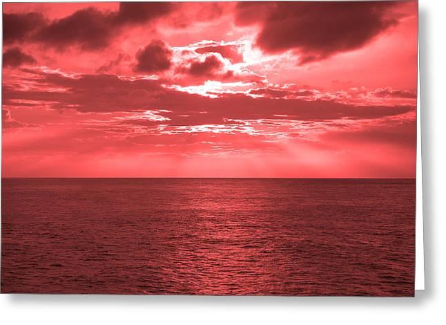 Cromer Sky Greeting Card by Julian Smith