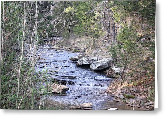 Greeting Card featuring the photograph Crooked Creek by Donna G Smith