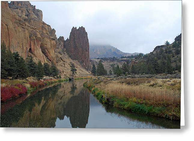 Crooked River At Smith Rock Greeting Card by Twenty Two North Photography