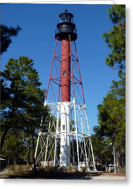 Crooked River Lighthouse Greeting Card by Carla Parris