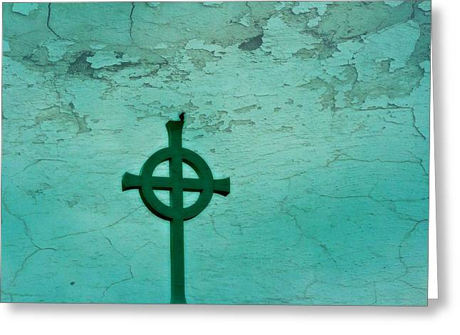 Cross Greeting Card by Debbie Sikes