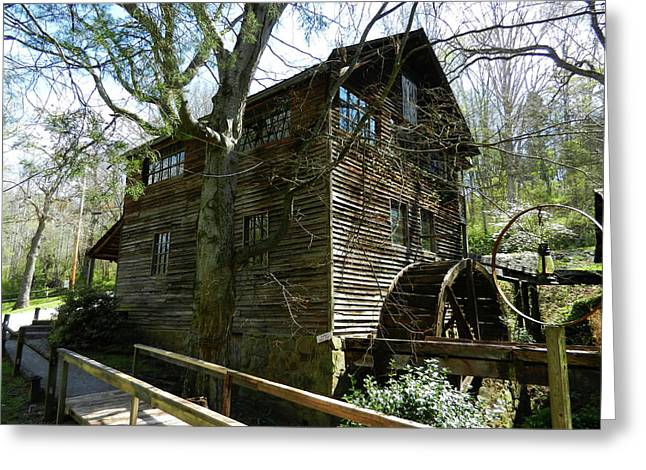 Greeting Card featuring the photograph Cross Eyed Cricket Grist Mill by Paul Mashburn