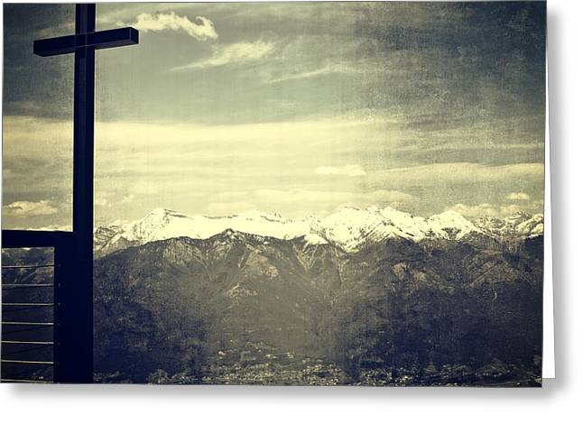 Cross In The Sky Greeting Card by Joana Kruse