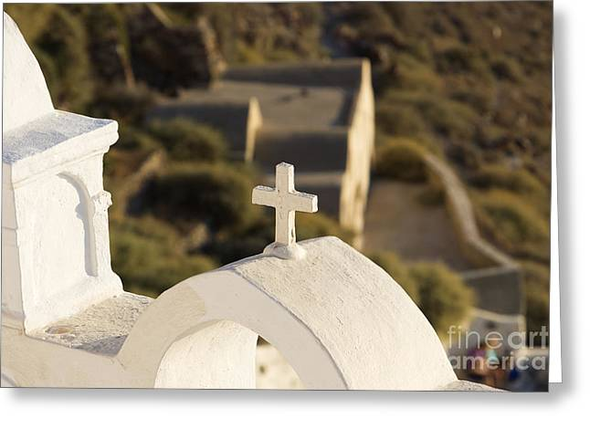 Greeting Card featuring the photograph Cross by Leslie Leda