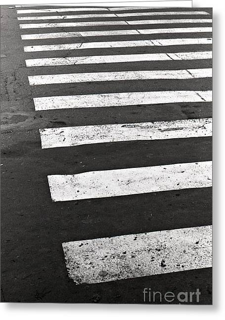 Cross Walk Greeting Card by Gabriela Insuratelu