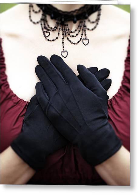 Crossed Hands Greeting Card