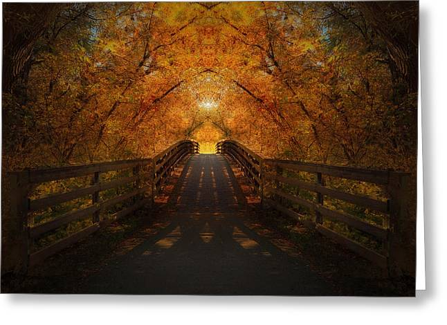 Crossing Over - Color Greeting Card