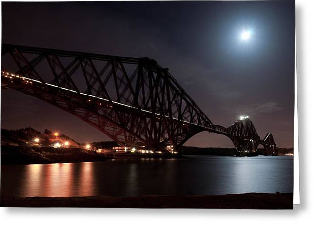 Crossing The Firth Under A Full Moon Greeting Card