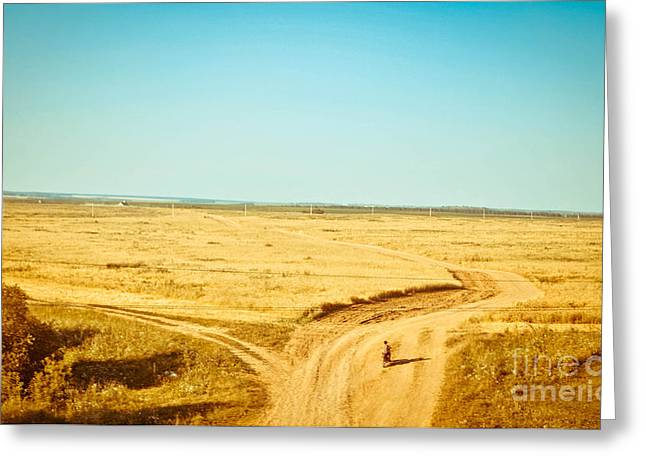 Crossroads Greeting Card by Victor Durasov