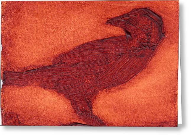 Crow Greeting Card by Alla Parsons