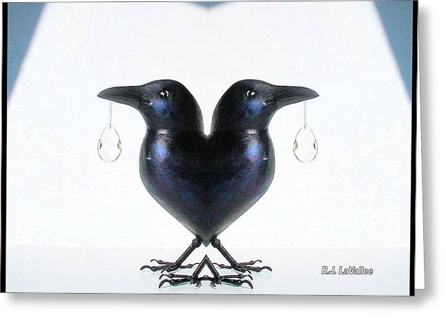 Crow With Crystal 6 Greeting Card