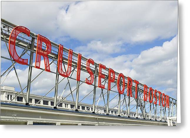 Cruiseport Boston Skyline Greeting Card by Luke Moore