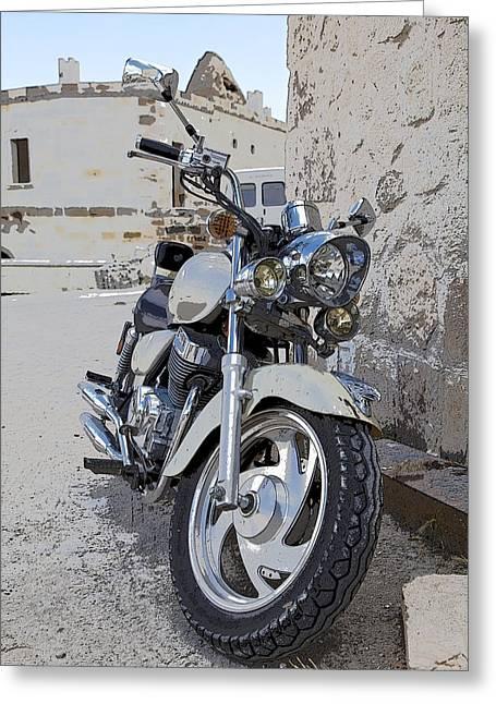 Cruiser Motor Bike Turkey Greeting Card by Kantilal Patel