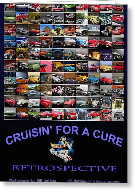 Cruisin Poster Greeting Card by Bill Dutting
