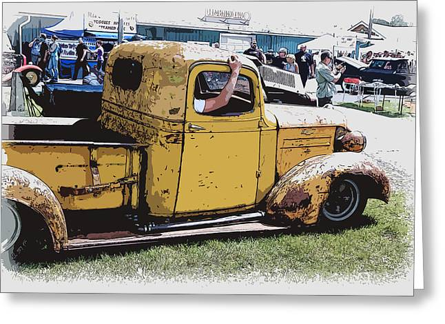 Cruising The Old Chevy Greeting Card by Steve McKinzie