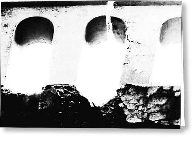 Crumbling Stonework  Greeting Card by Howard Perry