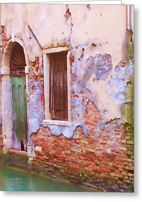 Crumbling Venetian Beauty Greeting Card