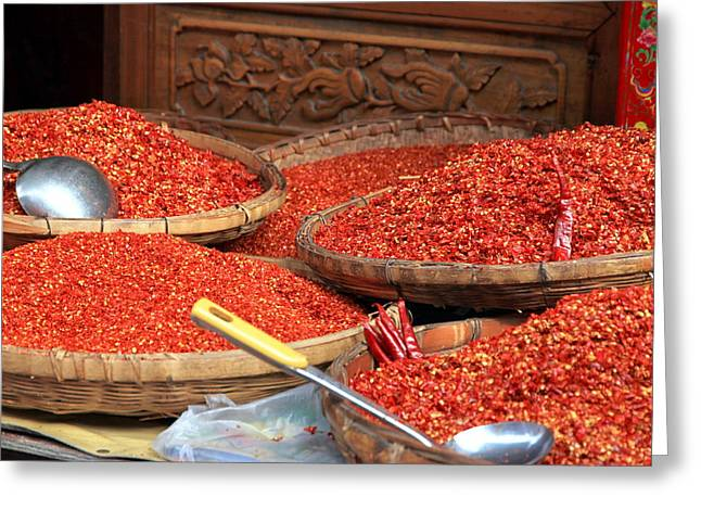 Crushed Chili Peppers Greeting Card