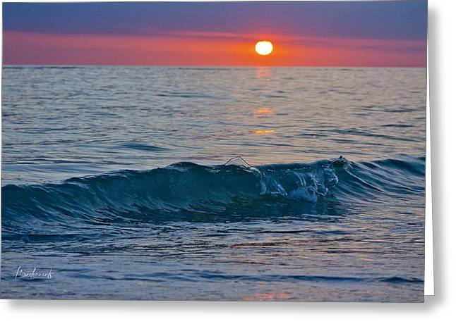 Crystal Blue Waters At Sunset In Treasure Island Florida 3 Greeting Card by Robin Lewis