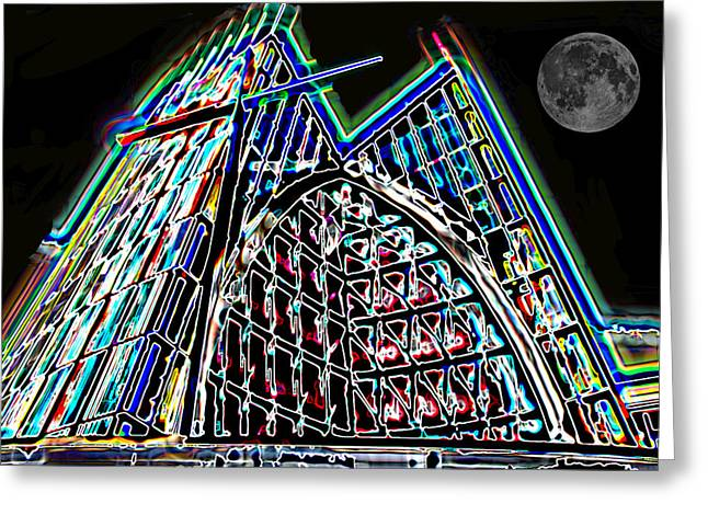 Crystal Cathedral 2 Greeting Card by Samuel Sheats