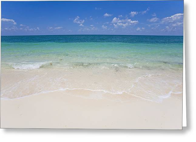 Crystal Clear Water And Blue Skies Greeting Card
