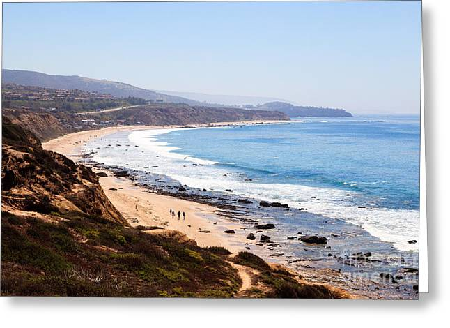 Crystal Cove Orange County California Greeting Card by Paul Velgos