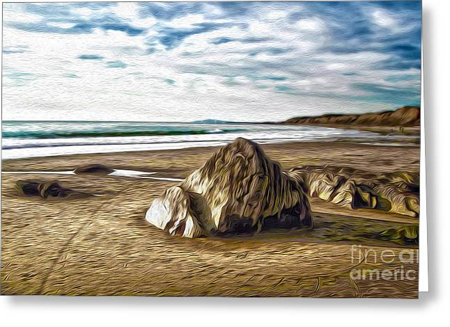 Crystal Cove Sea Shore Greeting Card by Gregory Dyer