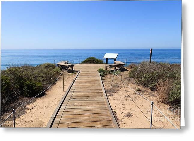 Crystal Cove State Park Ocean Overlook Greeting Card by Paul Velgos