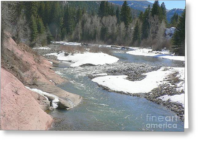 Crystal River Colorado Greeting Card by Elizabeth Fontaine-Barr