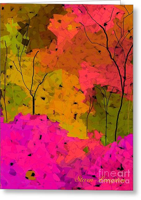 Greeting Card featuring the digital art Crystal Spring by Steven Lebron Langston