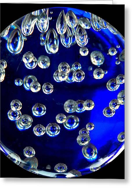 Crystal  Swim Drops Greeting Card by Colette V Hera  Guggenheim