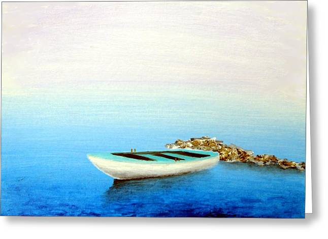Crystal Water Of The Mediterranean Greeting Card by Larry Cirigliano
