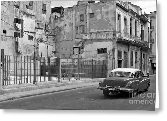 Greeting Card featuring the photograph Cuban Car by Lynn Bolt
