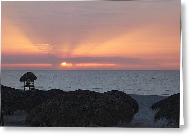 Greeting Card featuring the photograph Cuban Sunset by David Grant