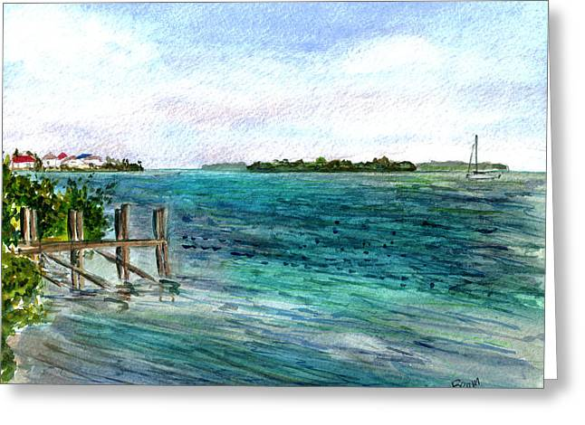 Cudjoe Bay Greeting Card