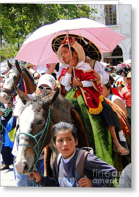 Cuenca Kids 103 Greeting Card by Al Bourassa