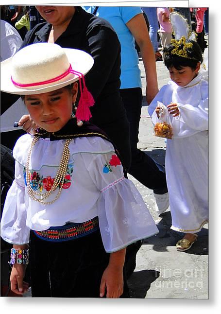 Cuenca Kids 117 Greeting Card by Al Bourassa