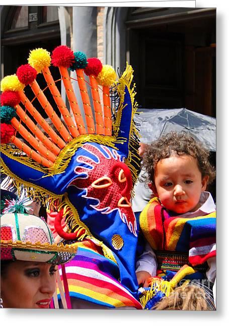 Cuenca Kids 132 Greeting Card by Al Bourassa