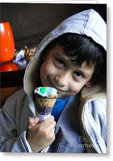 Cuenca Kids 178 Greeting Card by Al Bourassa