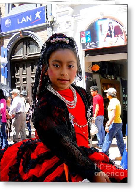 Cuenca Kids 186 Greeting Card by Al Bourassa