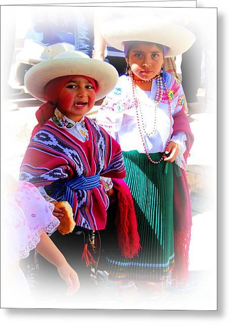 Cuenca Kids 191 Greeting Card by Al Bourassa