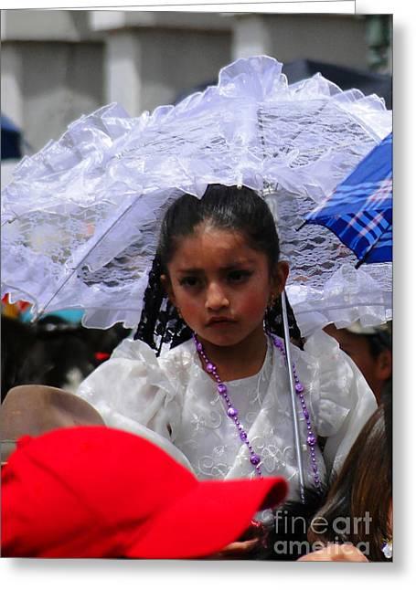 Cuenca Kids 51 Greeting Card by Al Bourassa