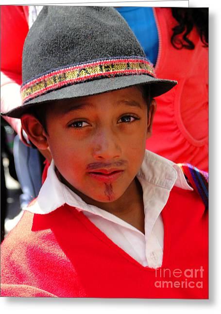 Cuenca Kids 57 Greeting Card by Al Bourassa