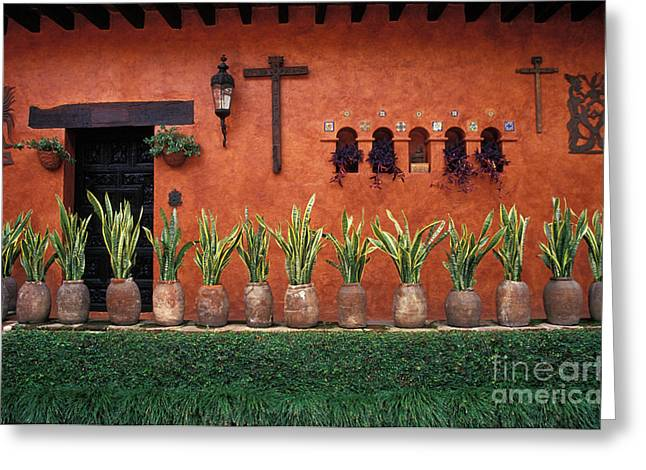Greeting Card featuring the photograph Cuernavaca Wall Mexico by John  Mitchell