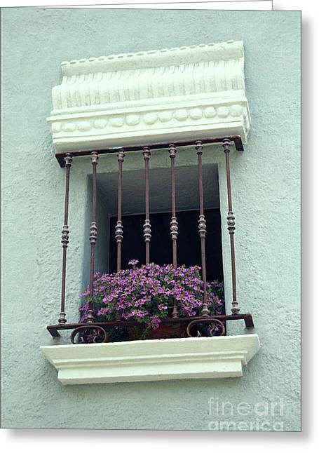 Greeting Card featuring the photograph Cuernavaca Window  Mexico by John  Mitchell