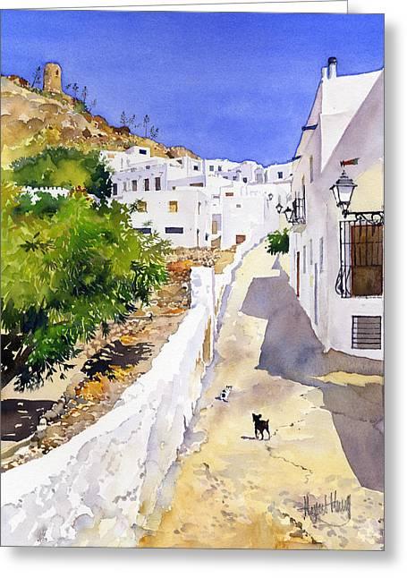 Cuesta De La Atalaya Nijar Greeting Card by Margaret Merry