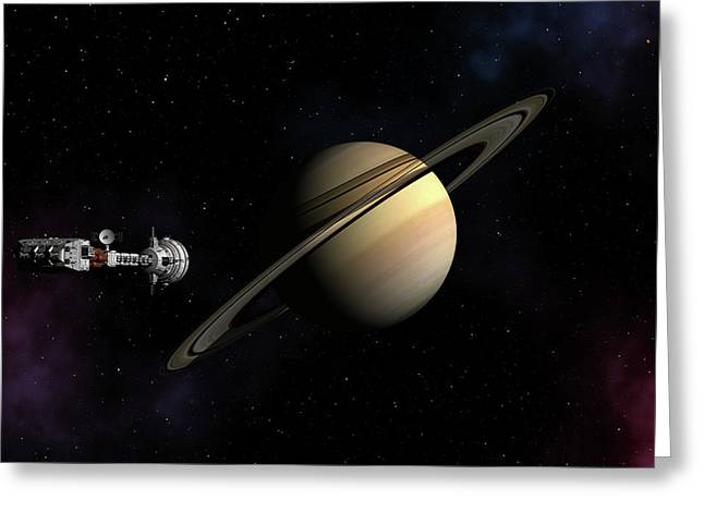 Cumberland Passing Saturn Greeting Card