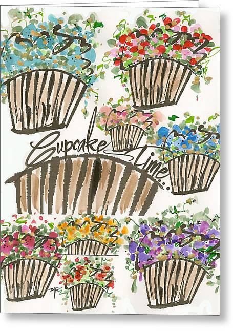 Cupcake Time Today Greeting Card