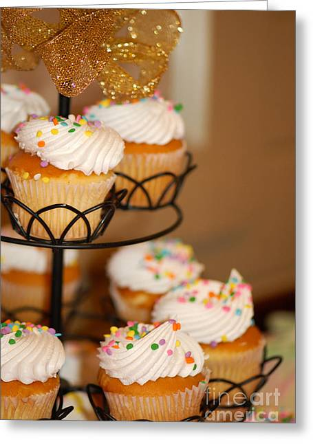 Cupcakes Anyone Greeting Card by Melissa Haley