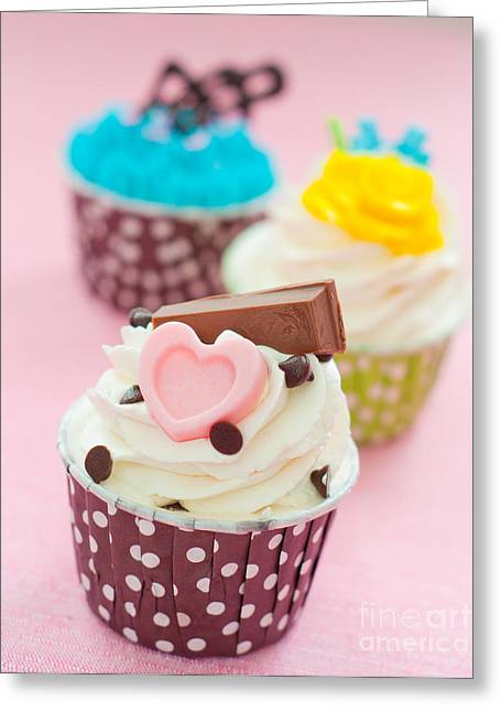 Cupcakes Greeting Card by Tul Chalothonrangsee